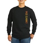 Stamp Bass Clarinet Long Sleeve Dark T-Shirt