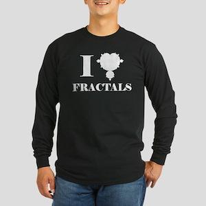 I Love Fractals Mathematics Long Sleeve Dark T-Shi
