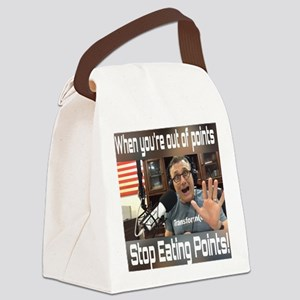 Stop Eating Points Canvas Lunch Bag