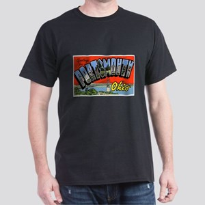 Portsmouth Ohio Greetings (Front) Dark T-Shirt
