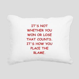 WINNING Rectangular Canvas Pillow