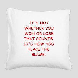 WINNING Square Canvas Pillow