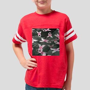 BREAST CANCER RIBBONS BLK 11x Youth Football Shirt