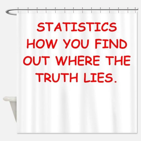 statistics Shower Curtain
