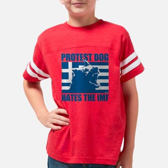 Greek Protest Dog Youth Football Shirt
