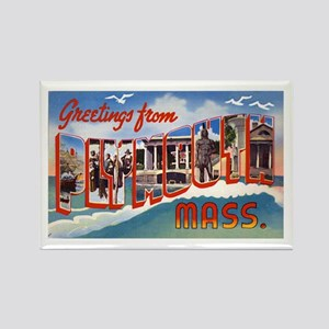 Plymouth Massachusetts Greetings Rectangle Magnet