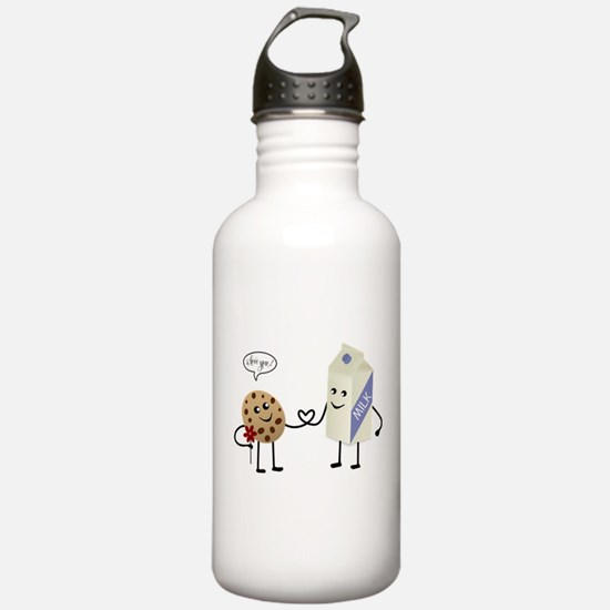 Cute Couple Showing Love Water Bottle
