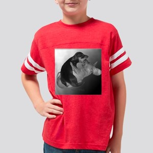 Yin Yang dachshund Dogs Tile  Youth Football Shirt