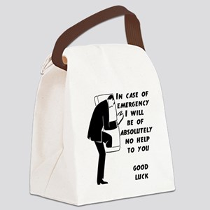 Emergency Assistance Canvas Lunch Bag