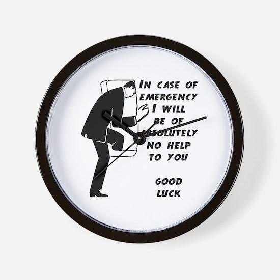Emergency Assistance Wall Clock