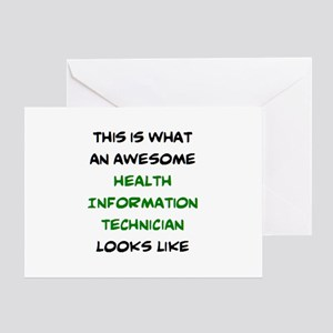awesome health information technicia Greeting Card