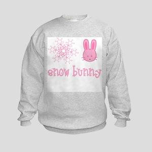 Pink Snow Bunny Kids Sweatshirt