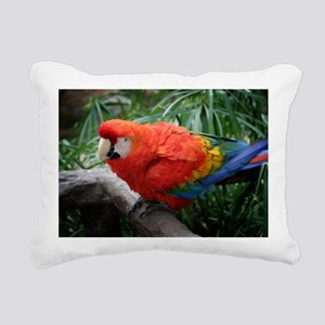 Scarlet Macaw Rectangular Canvas Pillow