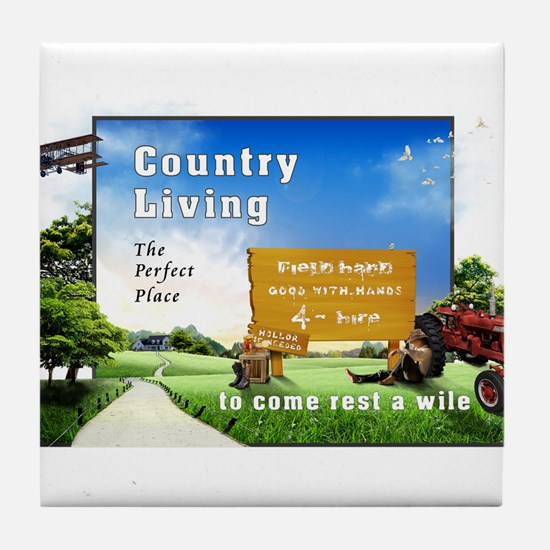 Being Country 101 Tile Coaster