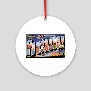 Pensacola Florida Greetings Ornament (Round)