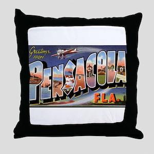 Pensacola Florida Greetings Throw Pillow