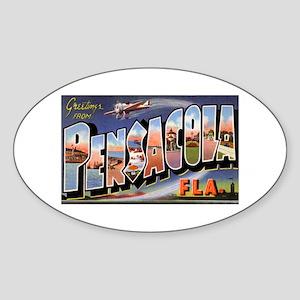 Pensacola Florida Greetings Oval Sticker