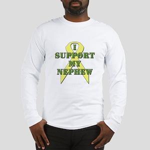 I Support My Nephew Long Sleeve T-Shirt