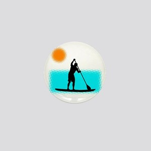 Paddle Boarder Mini Button