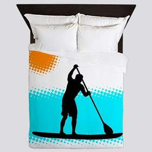 Paddle Boarder Queen Duvet