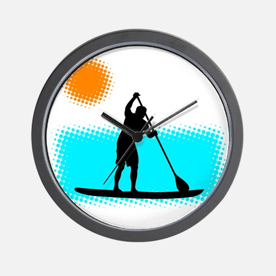 Paddle Boarder Wall Clock