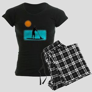 Paddle Boarder Women's Dark Pajamas