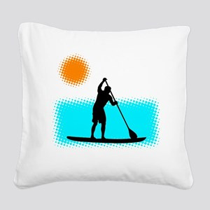 Paddle Boarder Square Canvas Pillow