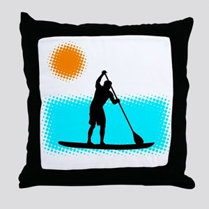 Paddle Boarder Throw Pillow