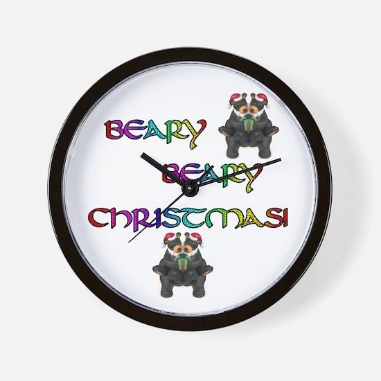 BEARY BEARY CHRISTMAS W/BEARS Wall Clock
