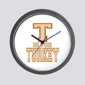T is for Turkey Wall Clock