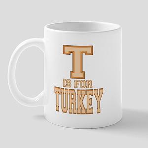 T is for Turkey Mug
