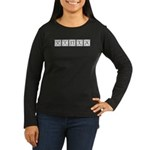Monogram Viola Women's Long Sleeve Dark T-Shirt