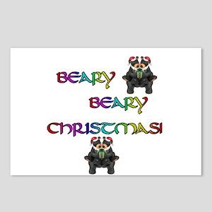 BEARY BEARY CHRISTMAS W/BEARS Postcards (Package o