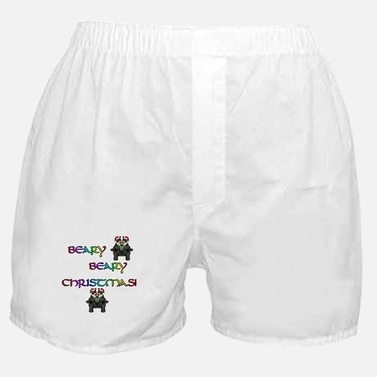 BEARY BEARY CHRISTMAS W/BEARS Boxer Shorts