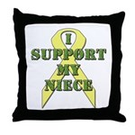 I Support My Niece Throw Pillow