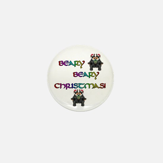 BEARY BEARY CHRISTMAS W/BEARS Mini Button