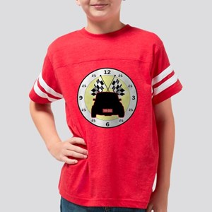 mini checkered flag clock Youth Football Shirt