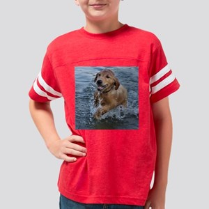 Golden Retriever- Swimming Le Youth Football Shirt