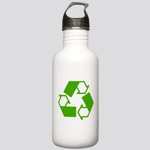Green Recycling Symbol Water Bottle