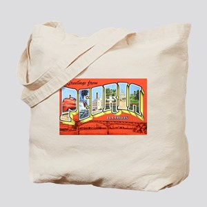Peoria Illinois Greetings Tote Bag
