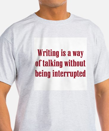 Writer / Author Ash Grey T-Shirt