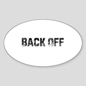 Back Off Oval Sticker