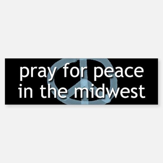 Peace in the Midwest Bumper Bumper Bumper Sticker