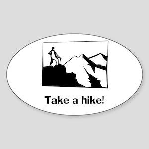 TAKE A HIKE Oval Sticker