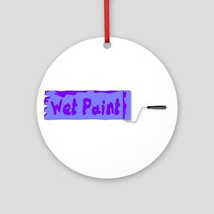 Wet Paint Roller Ornament (Round)