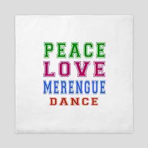 Peace Love Merengue Dance Queen Duvet