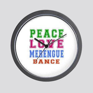 Peace Love Merengue Dance Wall Clock