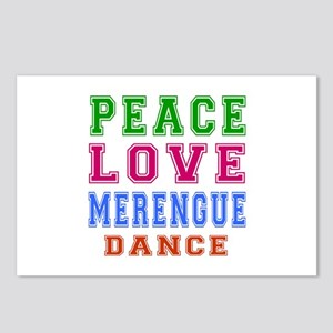 Peace Love Merengue Dance Postcards (Package of 8)