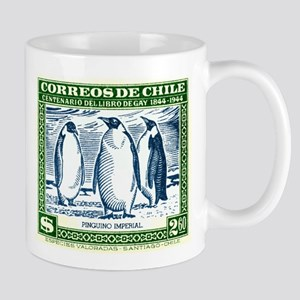 Antique 1948 Chile Emperor Penguins Postage Stamp