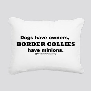 BCs vs. Dogs Rectangular Canvas Pillow